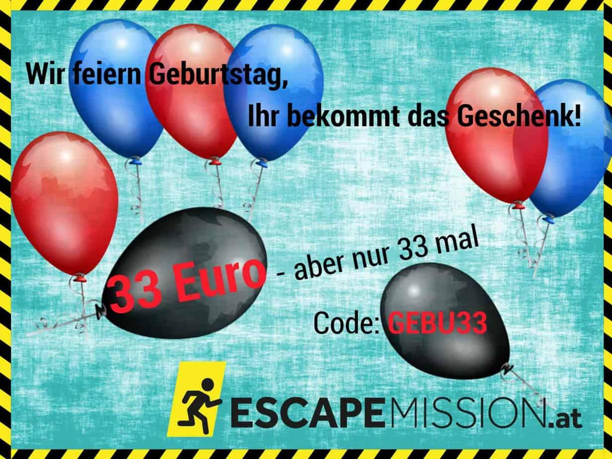 Escape Mission schenkt Euch 33,- Euro | Escape Mission